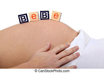 frau, Bauch, schwanger
