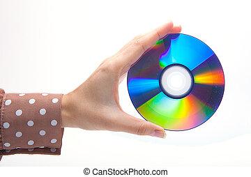 frau besitz, a, weißes, cd