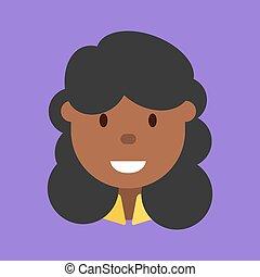frau, ikone, weibliche , amerikanische , afro, afrikanisch, avatar