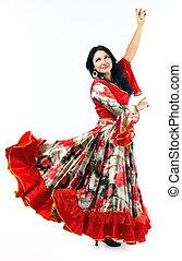 frau tanz zwei zigeuner kost m f llig flamenco frau. Black Bedroom Furniture Sets. Home Design Ideas