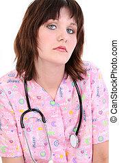 frau, krankenschwester, gesundheit