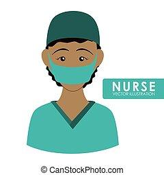 frau, krankenschwester