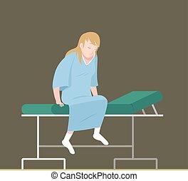 Klinikum patient liegen bett hospital patient for Bett zeichnung