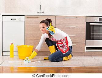 Frau putzen kueche boden frau h bsch boden haus for Boden putzen