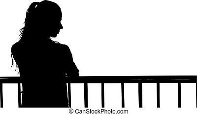 Frau, Silhouette, H?bsch - frau, silhouette