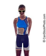 frau, triathlon, ironman, athlet