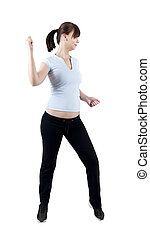 frau, workout