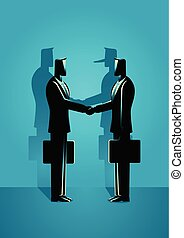 Fraud Agreement Concept - Business concept vector...