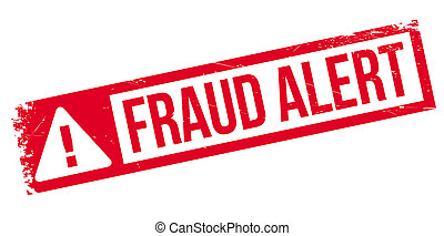 Fraud alert rubber stamp