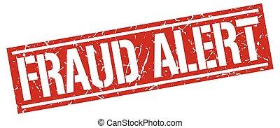 fraud alert square grunge stamp