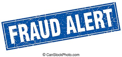 fraud alert square stamp
