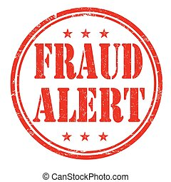 Fraud alert stamp - Fraud alert grunge rubber stamp on white...