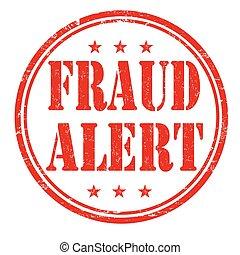 Fraud alert stamp - Fraud alert grunge rubber stamp on white...