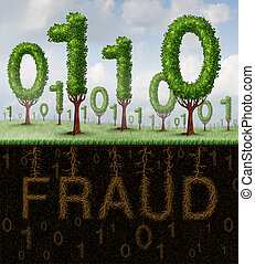 Fraud Concept - Fraud concept and internet scam symbol as a...
