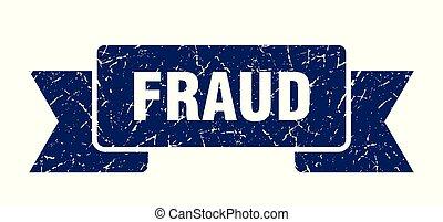 fraud grunge ribbon. fraud sign. fraud banner