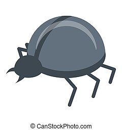 Fraud online bug icon, isometric style