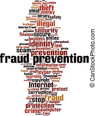 Fraud prevention-vertical word cloud - Fraud prevention word...