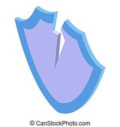 Fraud protect shield icon, isometric style