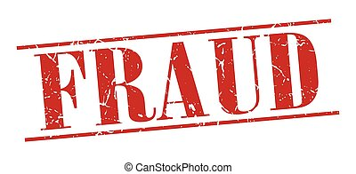 fraud red grunge vintage stamp isolated on white background