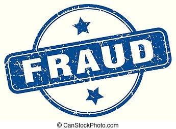 fraud round grunge isolated stamp