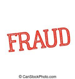 fraud stamp on white