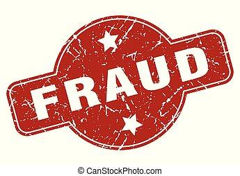 fraud vintage stamp. fraud sign