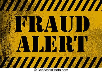 fraude, alerte, raies, signe jaune