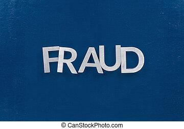 fraude, argent, -, surface, classique, peint, bleu, wtih,...