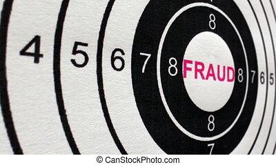 fraude, cible, concept, chariot, coup