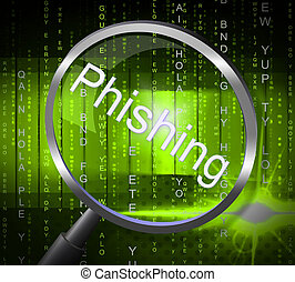 fraude, de, phishing, rasgón, estafar, exposiciones