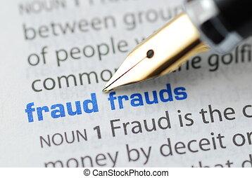 fraude, -, dictionnaire, série