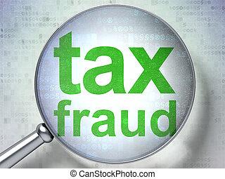 fraude, impôt, verre, optique, droit & loi, concept: