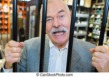 fraude, monétaire, prison, homme affaires