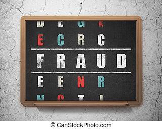 fraude, mot, puzzle, résoudre, mots croisés, protection, ...