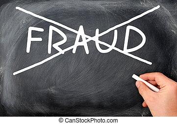 fraude, não