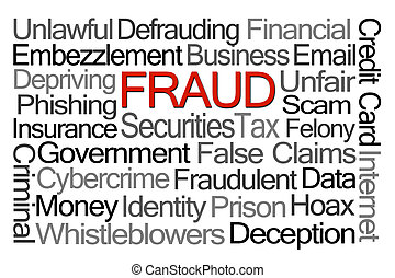 fraude, palavra, nuvem