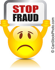 fraude, sinal parada