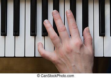frauenhände, spielenden klavier, music.