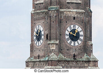 Frauenkirche, the cathedral of Munich, Germany - The...