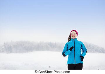 frauenlauf, in, winter
