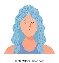 frauenportraets, avatar, karikatur, zeichen