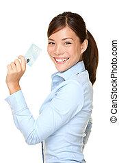 frauenunternehmen, ausstellung, kredit, besitz, beiläufig, karte
