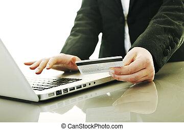 frauenunternehmen, geld, transaktion, online, machen