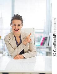 frauenunternehmen, zeigen, raum, kopie, glücklich