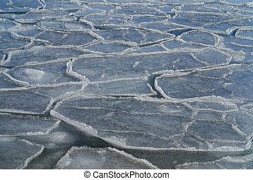 A frazil in winter sea.