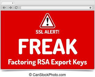 FREAK - Factoring RSA Export Keys Security - Warning in simple o