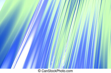Freakish abstract blue and green waves and patterns...