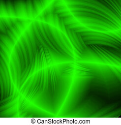 Freakish abstract green patterns on a black background