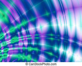 Freakish abstract green violet and blue patterns and waves