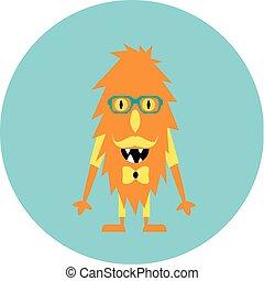 Freaky cute retro hipster alien monsters. Vector...